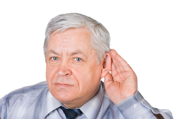 Man with Hearing Loss