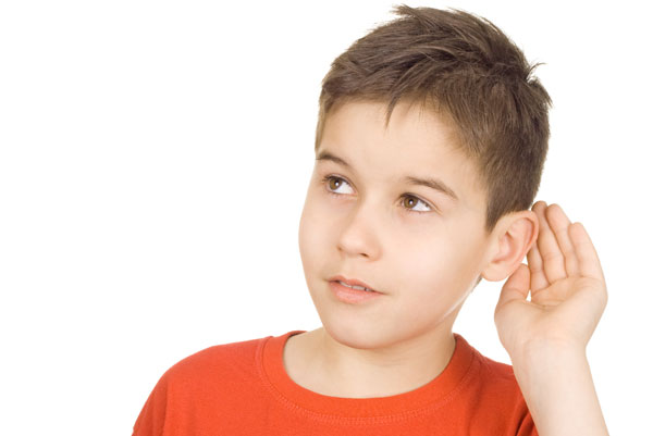 Boy with Hearing Loss