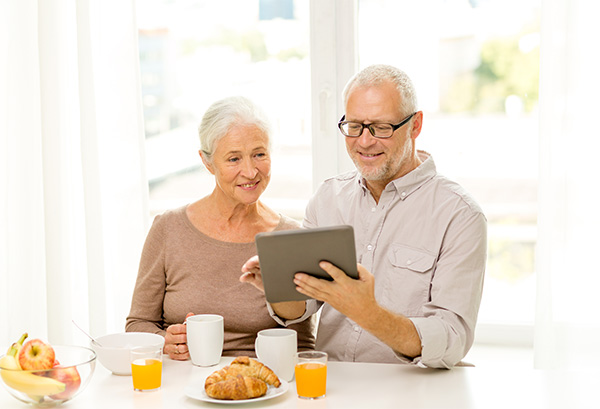 Elderly Couple on Tablet