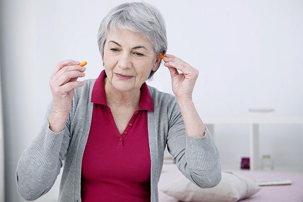 Woman with Earplugs