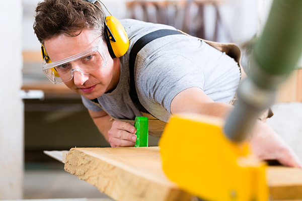 Carpenter with Earmuffs