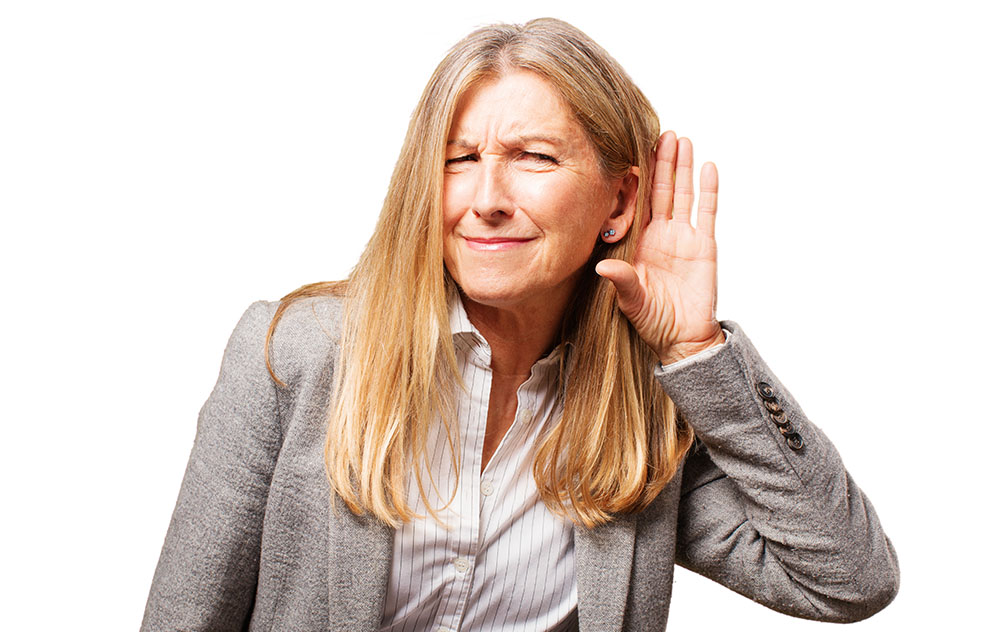 Woman with Tinnitus