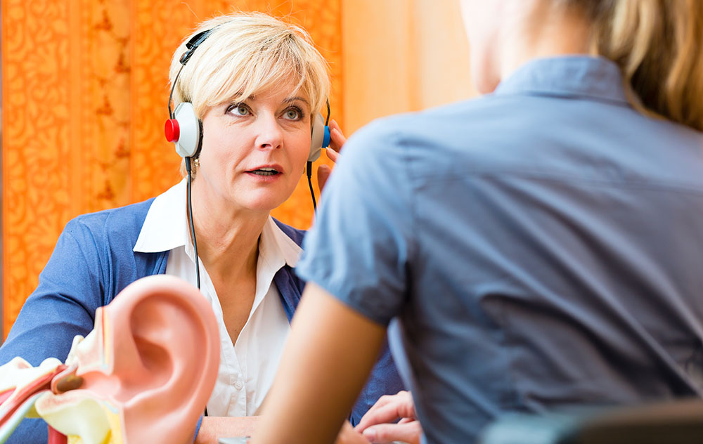 Woman Getting Hearing Evaluation