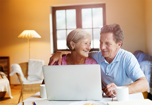Elderly Couple on Computer