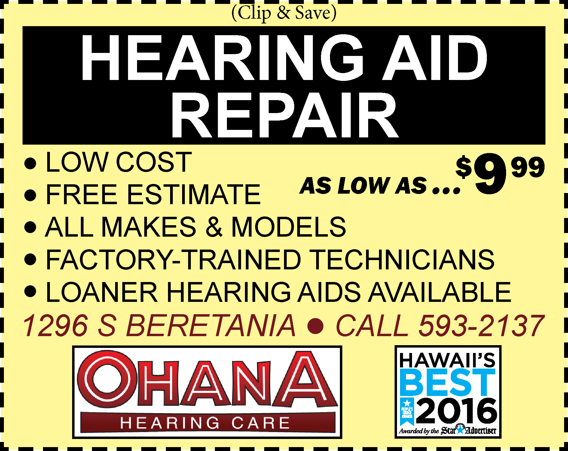 5 NEW Color Vintage Hearing Aid Repair ad coupon page..jpg
