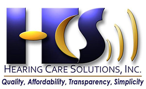 Hearing Care Solutions - HCS Logo with Tagline