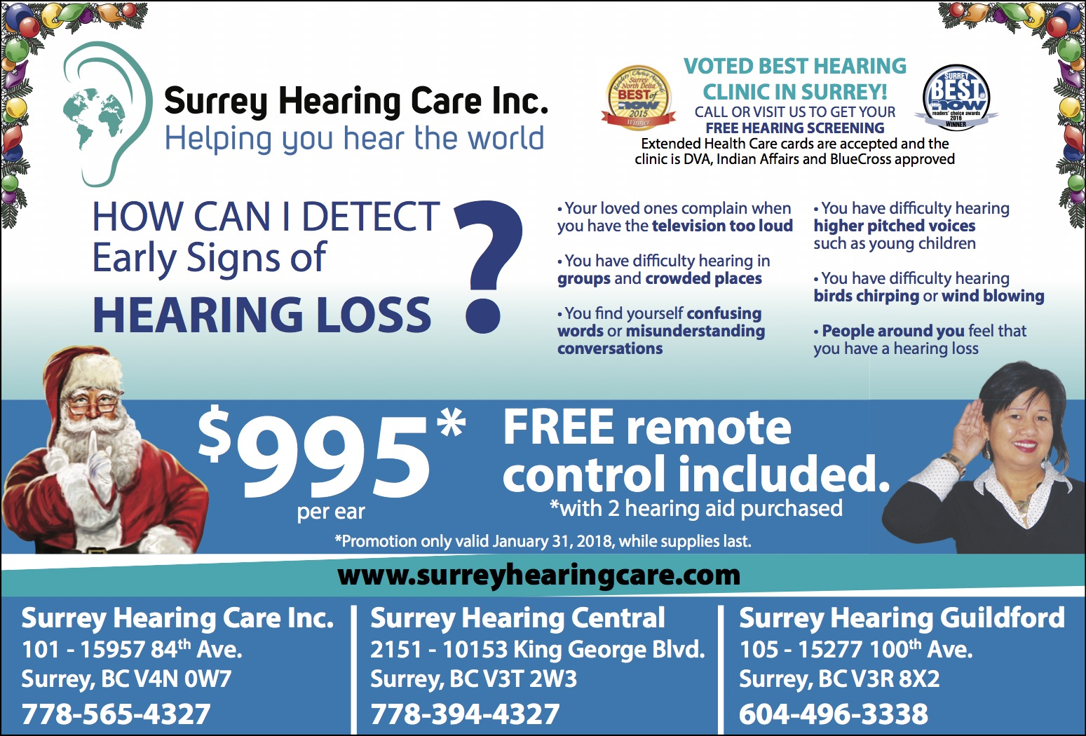 Surrey Hearing Care Promotion