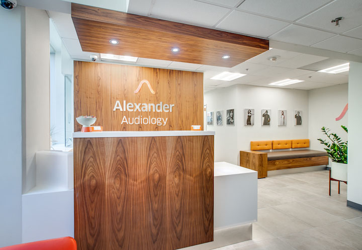 Alexander Audiology office waiting area
